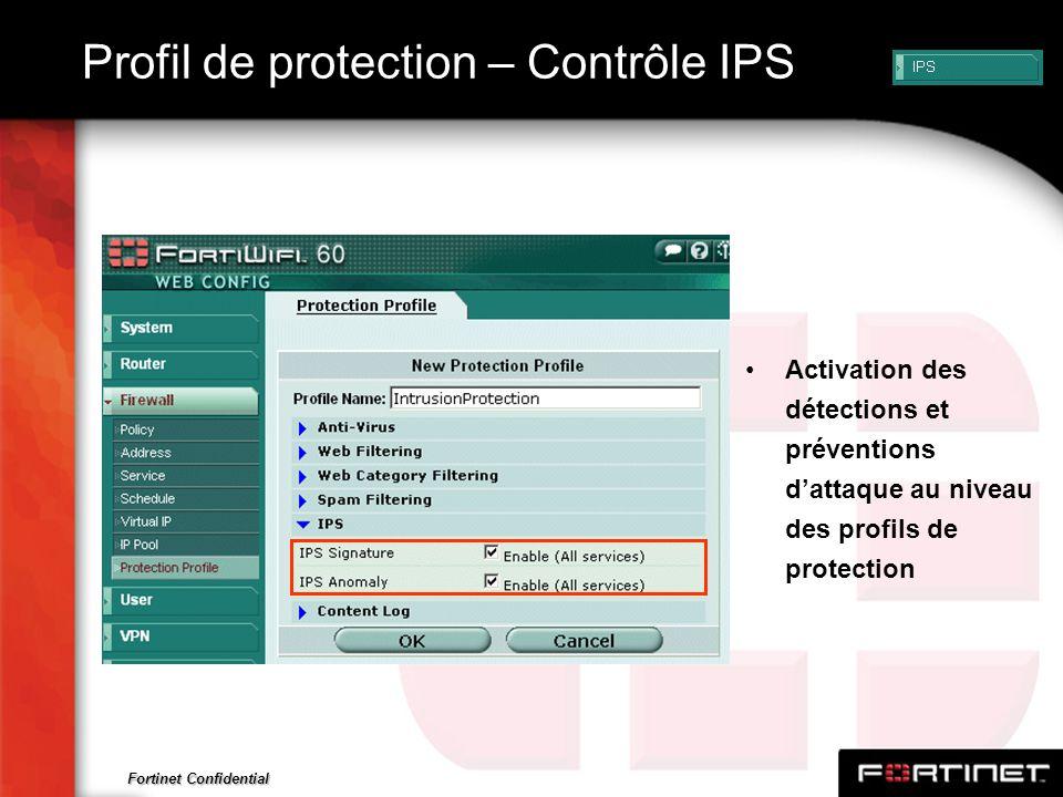 Profil de protection – Contrôle IPS