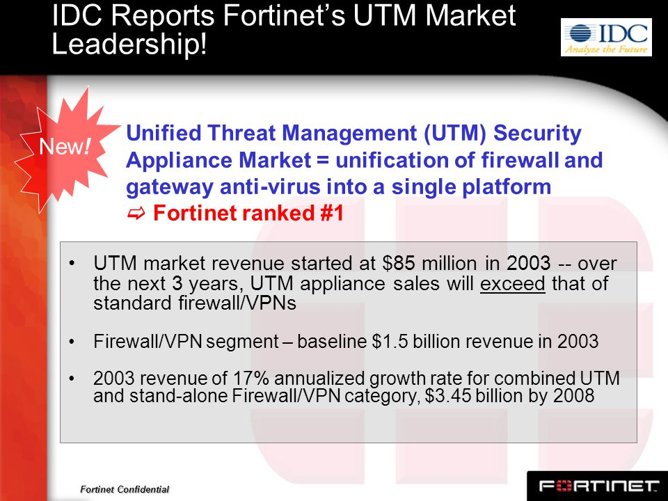 IDC Reports Fortinet's UTM Market Leadership!