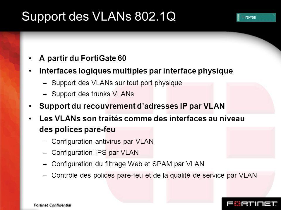 Support des VLANs 802.1Q A partir du FortiGate 60