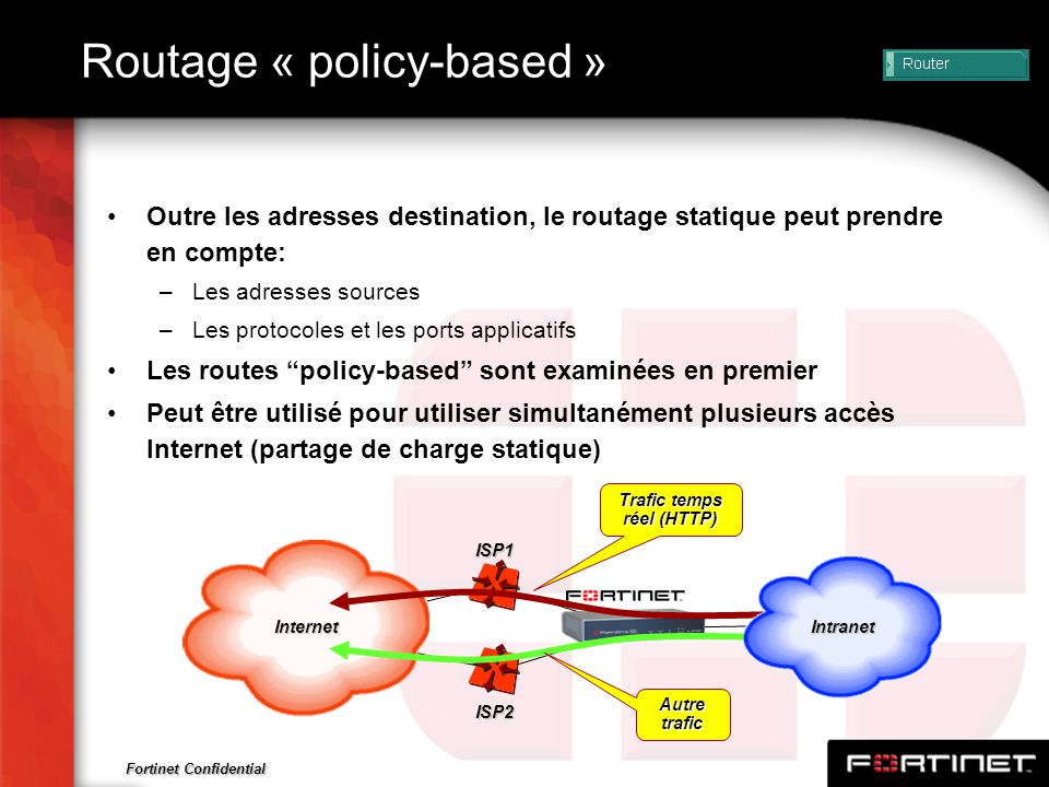 Routage « policy-based »