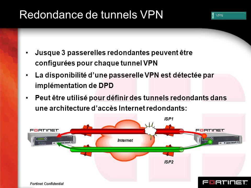 Redondance de tunnels VPN