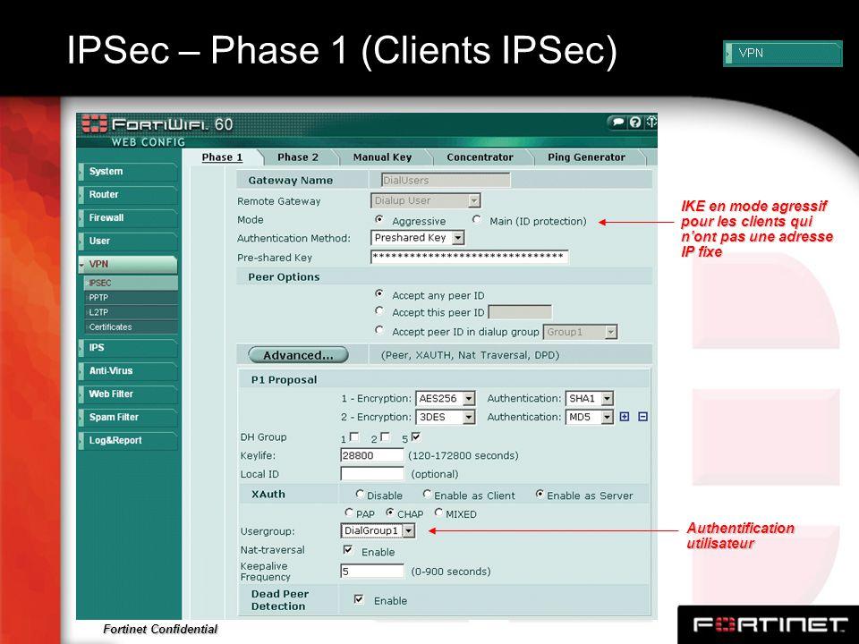 IPSec – Phase 1 (Clients IPSec)