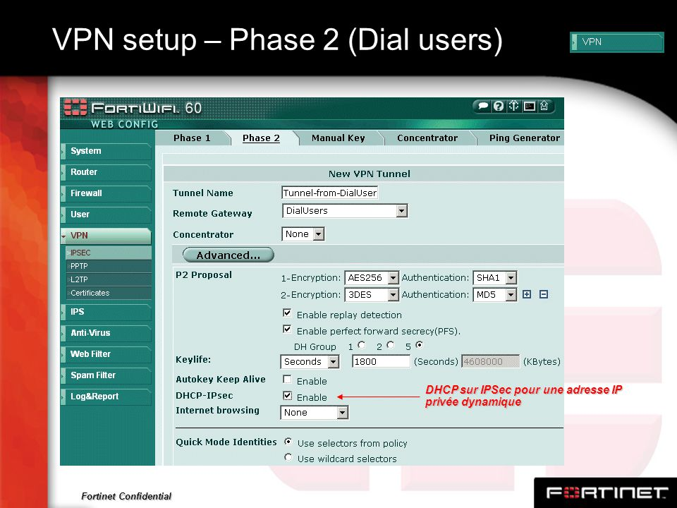 VPN setup – Phase 2 (Dial users)