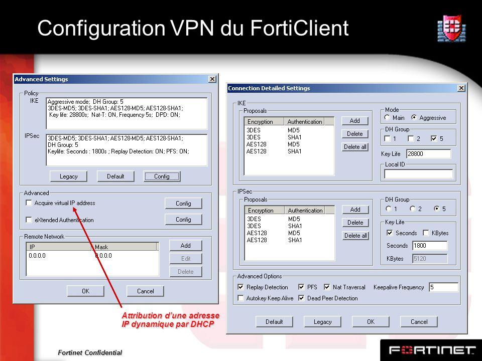 Configuration VPN du FortiClient