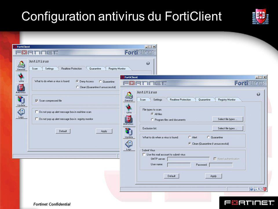 Configuration antivirus du FortiClient