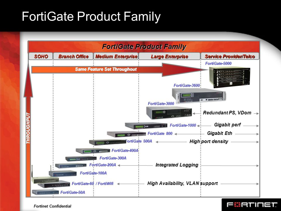 FortiGate Product Family