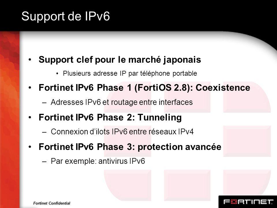 Support de IPv6 Support clef pour le marché japonais