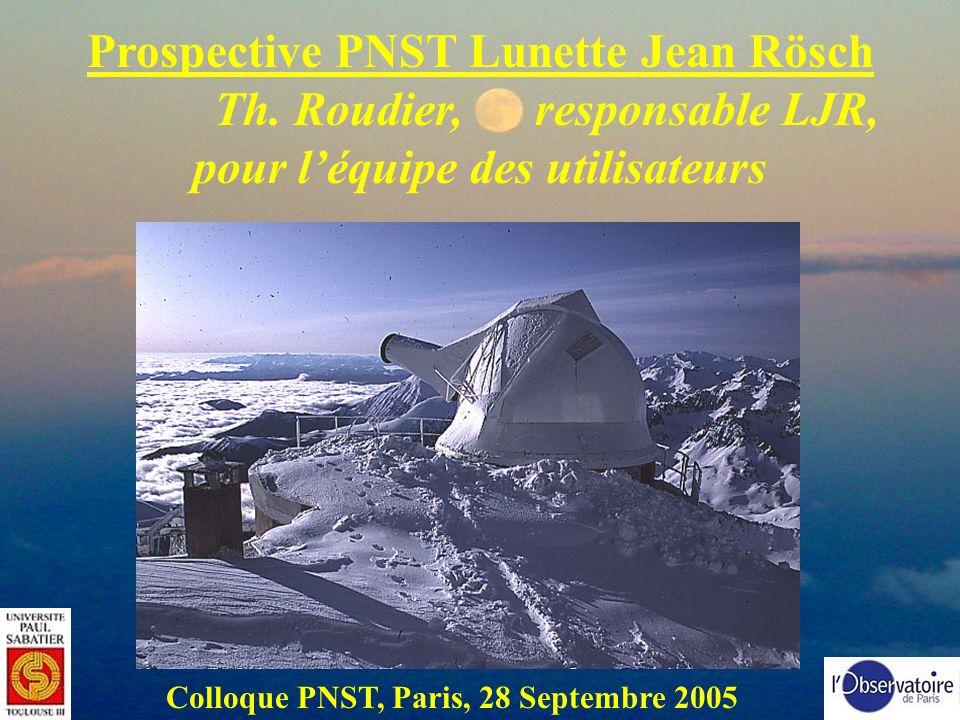 Prospective PNST Lunette Jean Rösch Th. Roudier, responsable LJR,