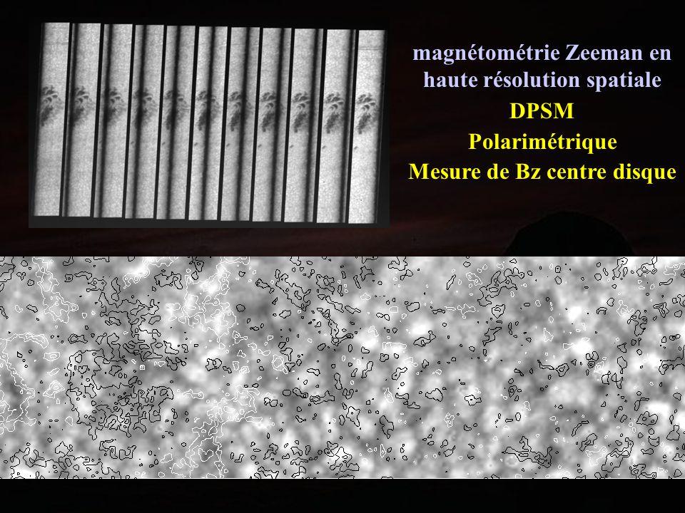 magnétométrie Zeeman en haute résolution spatiale DPSM Polarimétrique