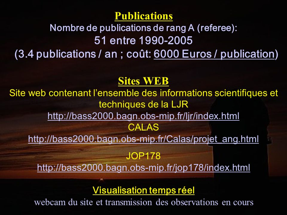 Publications 51 entre 1990-2005 Sites WEB