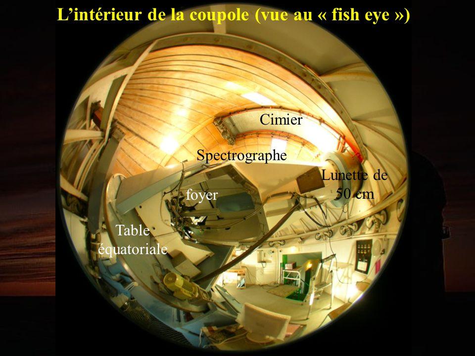 L'intérieur de la coupole (vue au « fish eye »)