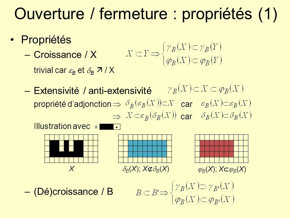 Ouverture / fermeture : propriétés (1)
