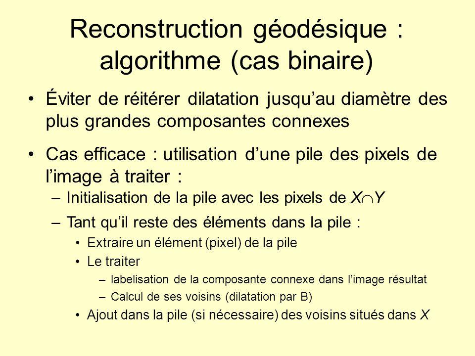 Reconstruction géodésique : algorithme (cas binaire)