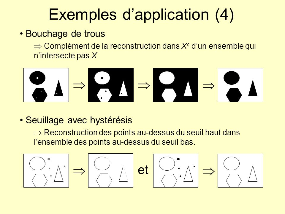 Exemples d'application (4)