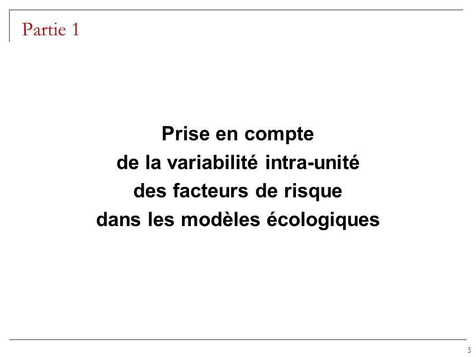 de la variabilité intra-unité dans les modèles écologiques