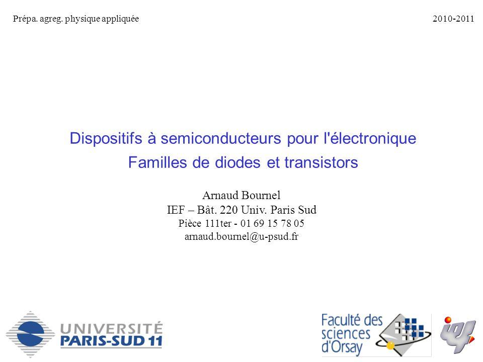 Dispositifs à semiconducteurs pour l électronique