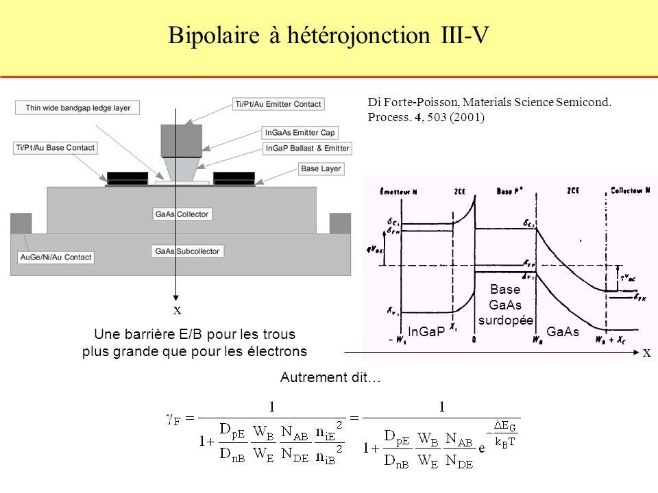 Bipolaire à hétérojonction III-V