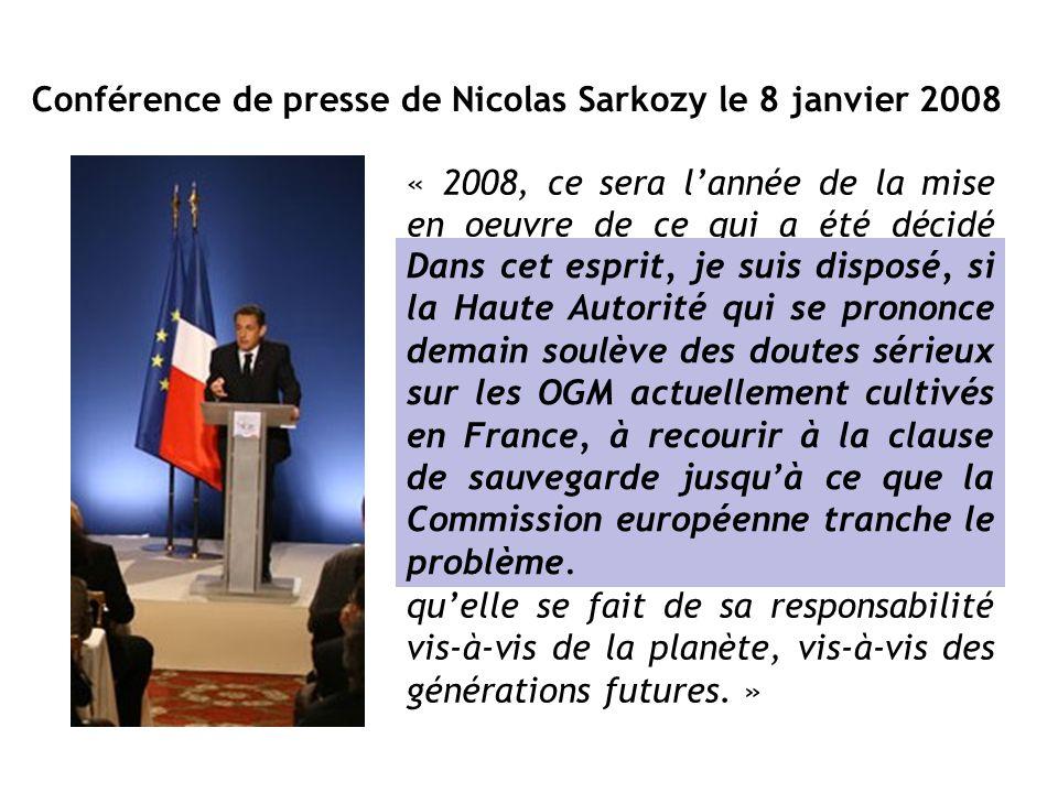 Conférence de presse de Nicolas Sarkozy le 8 janvier 2008