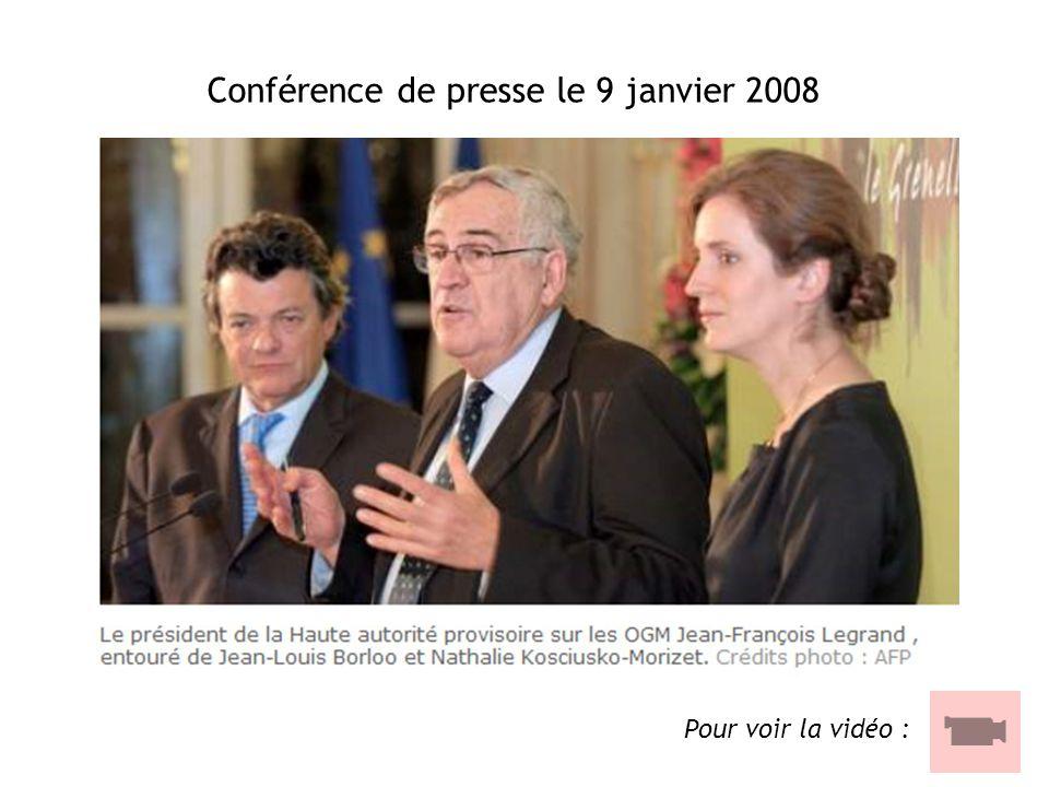 Conférence de presse le 9 janvier 2008
