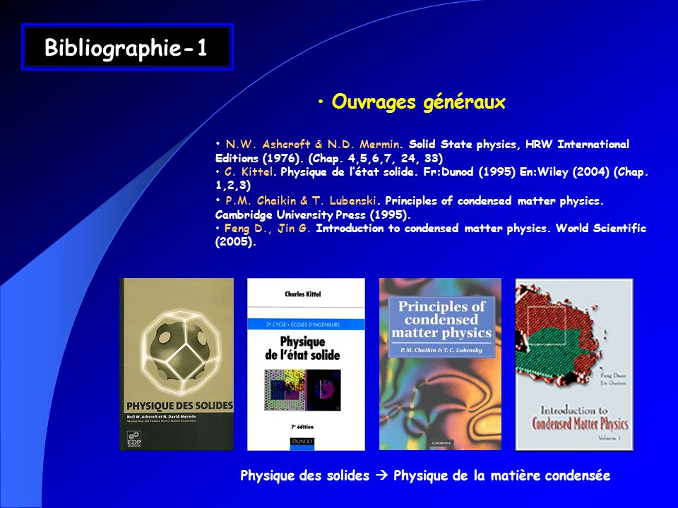 Bibliographie-1 Ouvrages généraux