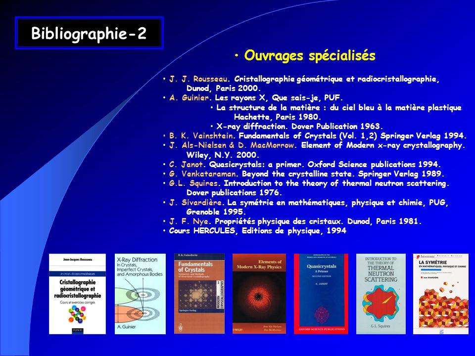Bibliographie-2 Ouvrages spécialisés