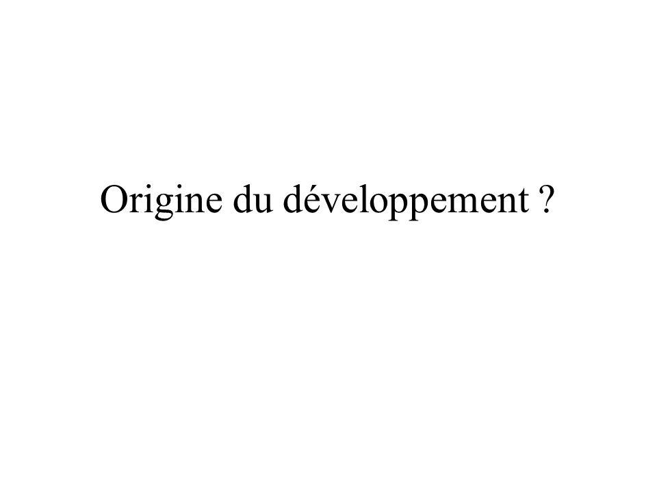 Origine du développement