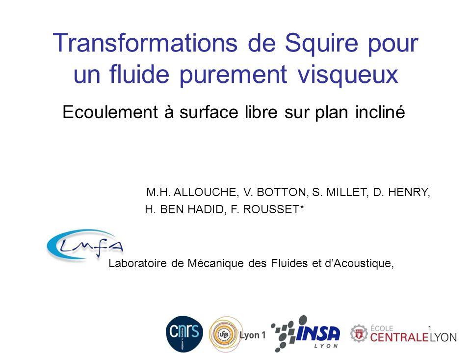 Transformations de Squire pour un fluide purement visqueux