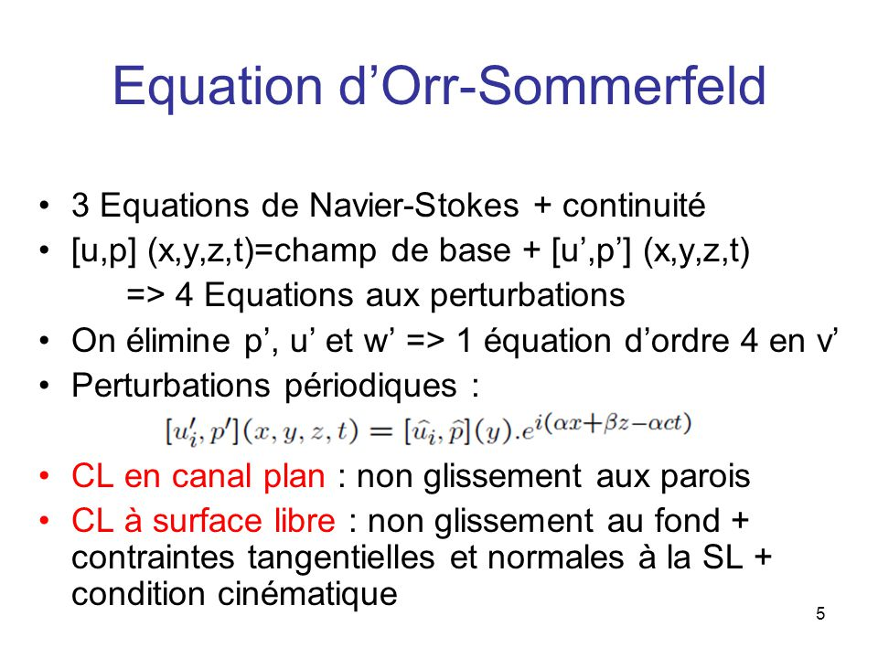 Equation d'Orr-Sommerfeld