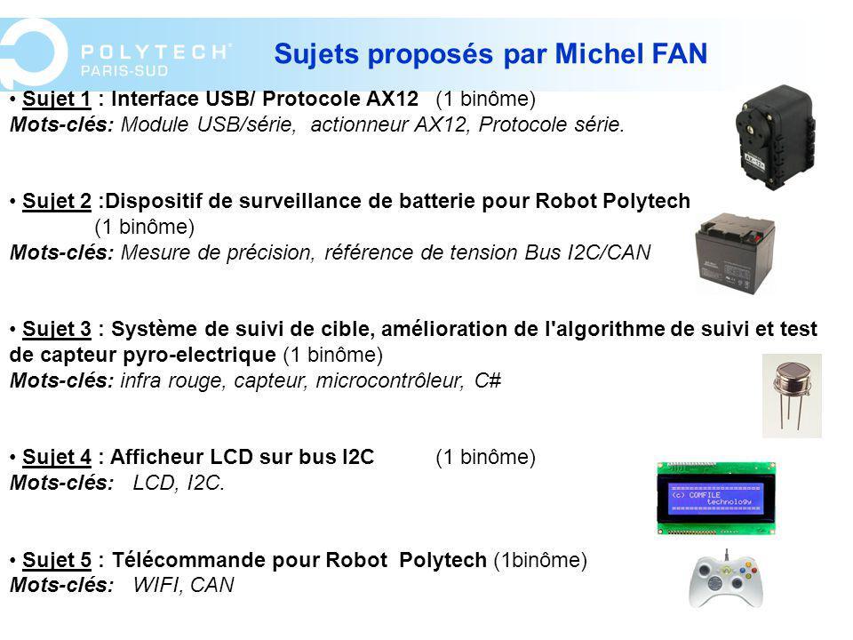 Sujets proposés par Michel FAN