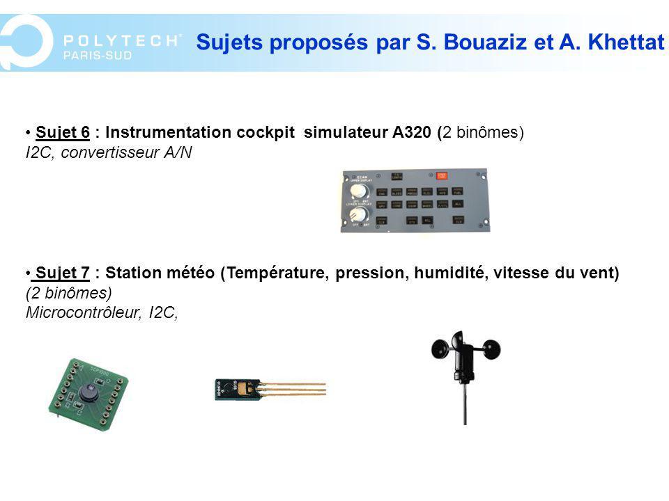 Sujets proposés par S. Bouaziz et A. Khettat