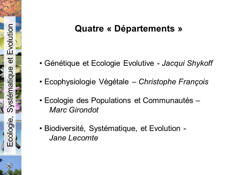Quatre « Départements »