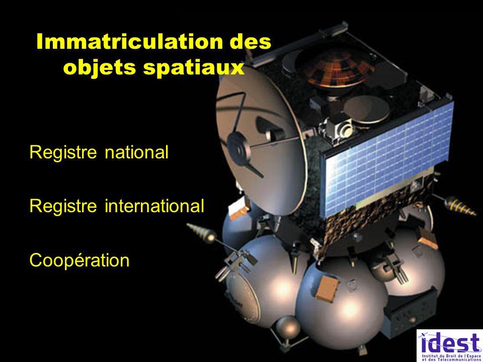 Immatriculation des objets spatiaux