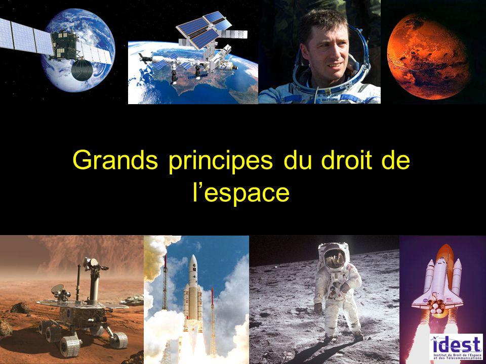 Grands principes du droit de l'espace