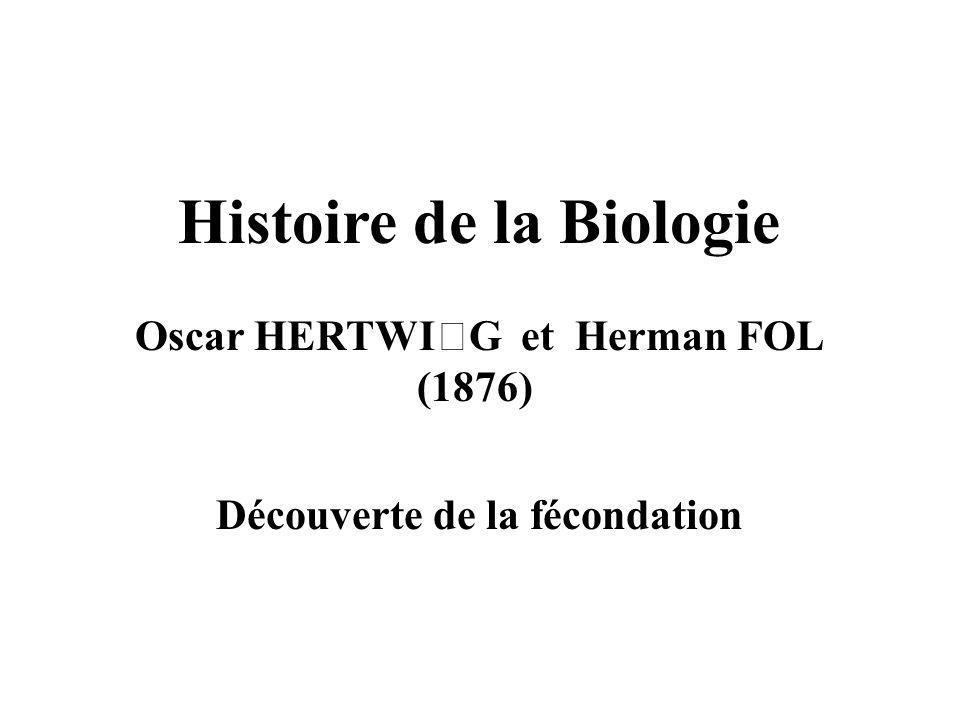Histoire de la Biologie