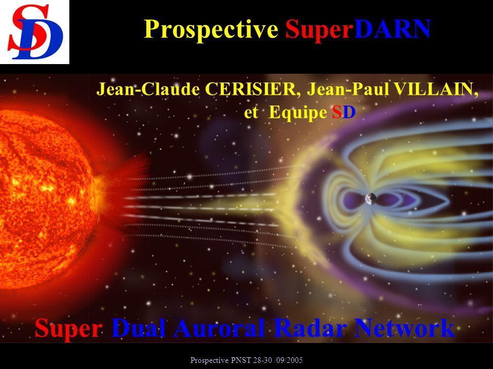 Prospective SuperDARN