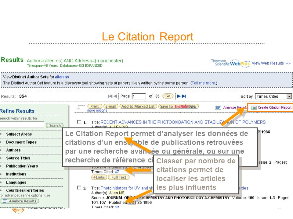 Le Citation Report