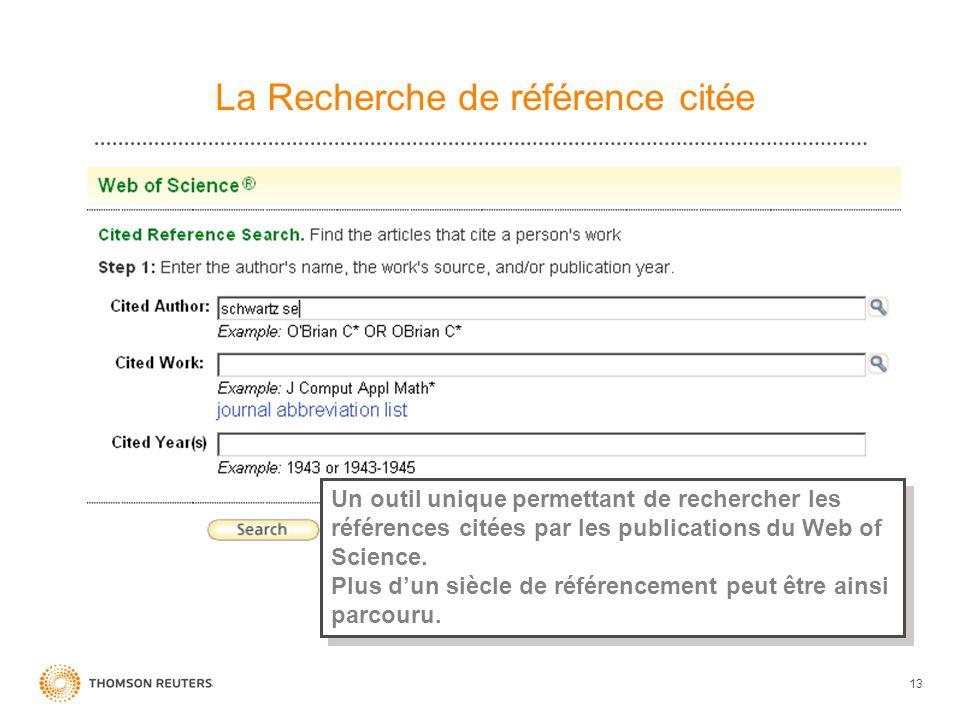La Recherche de référence citée