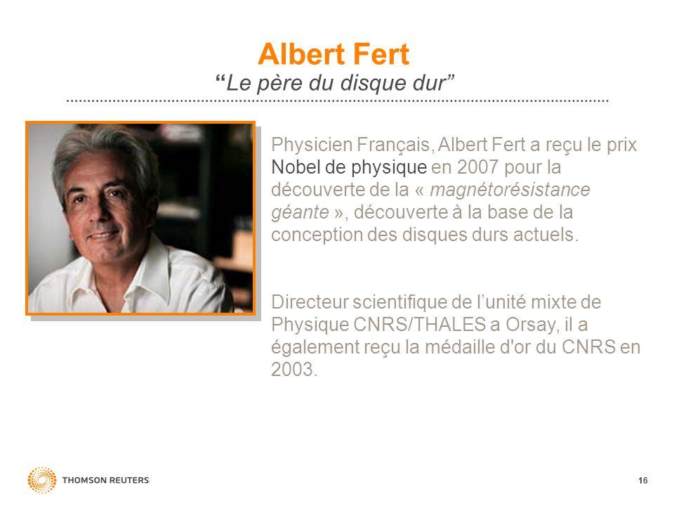 Albert Fert Le père du disque dur