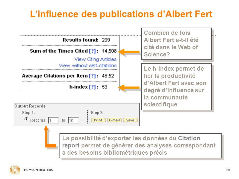 L'influence des publications d'Albert Fert