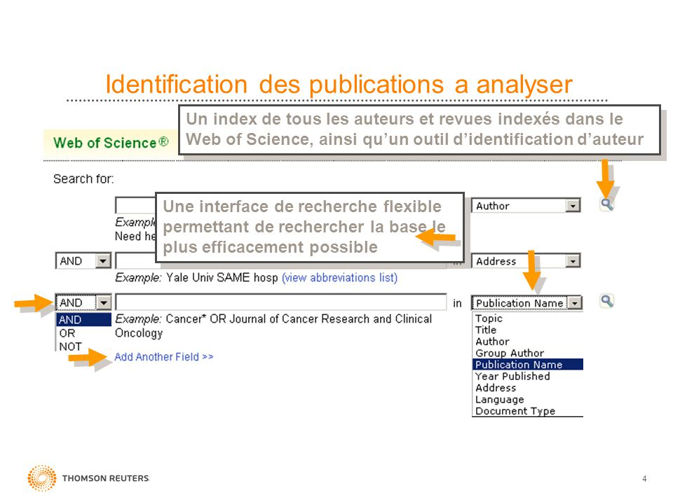 Identification des publications a analyser