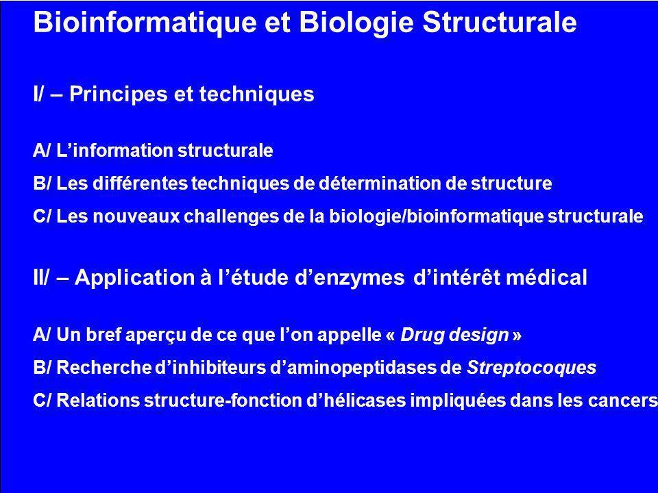 Bioinformatique et Biologie Structurale