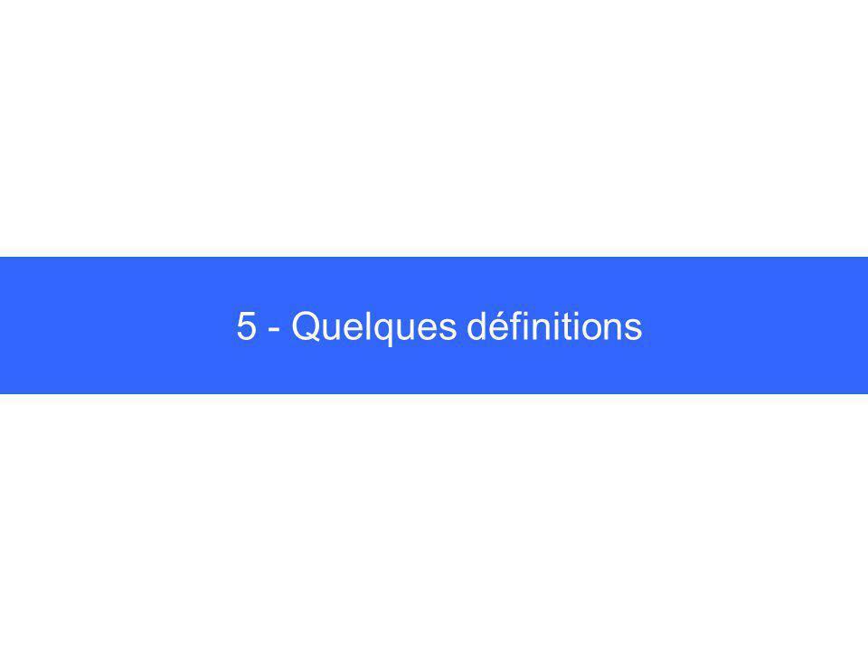 5 - Quelques définitions