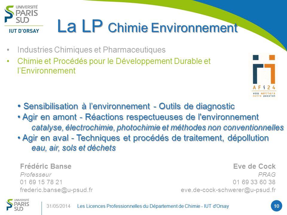 La LP Chimie Environnement
