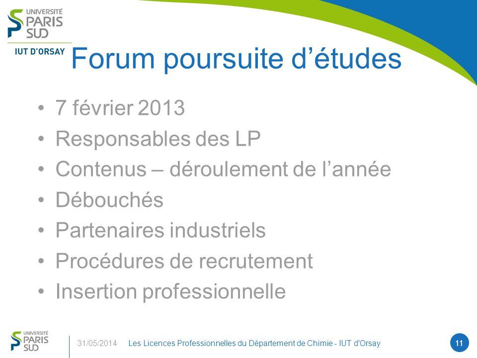 Forum poursuite d'études