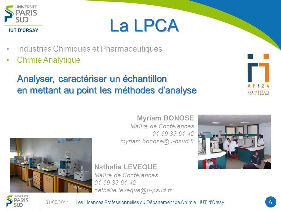 La LPCA Analyser, caractériser un échantillon