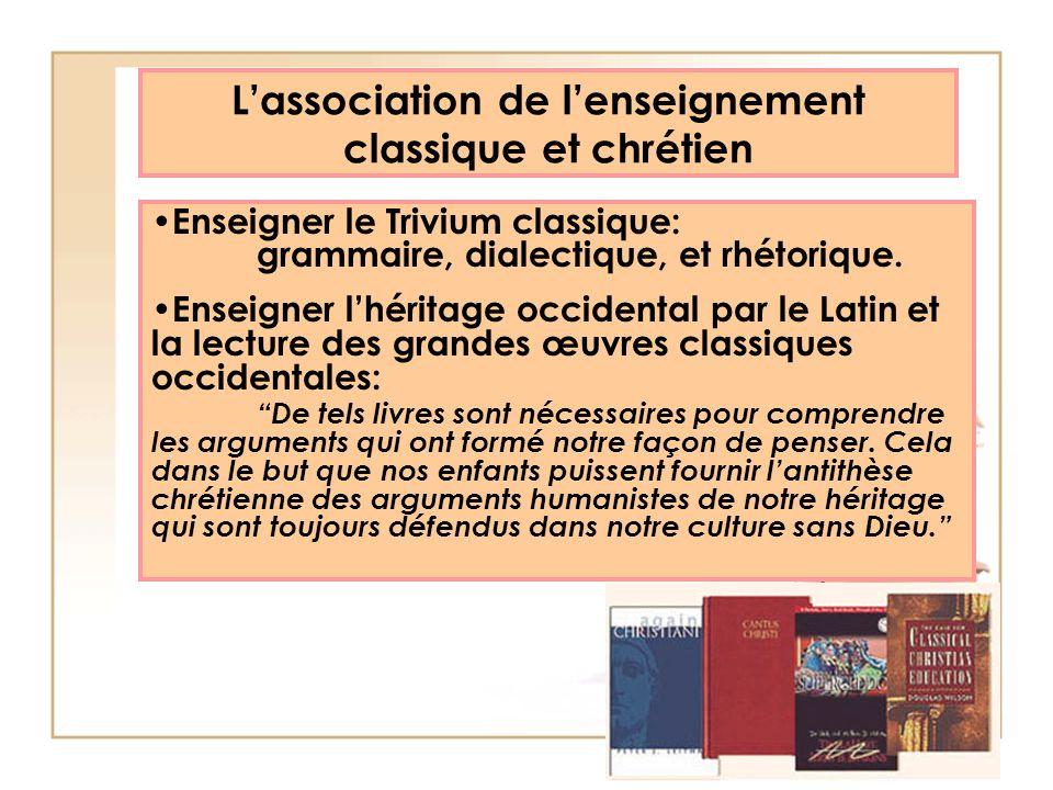 L'association de l'enseignement classique et chrétien