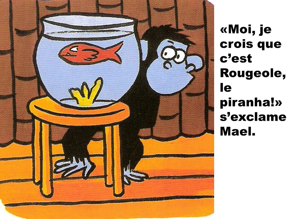 «Moi, je crois que c'est Rougeole, le piranha!» s'exclame Mael.
