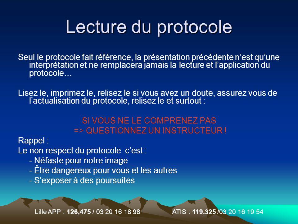 Lecture du protocole