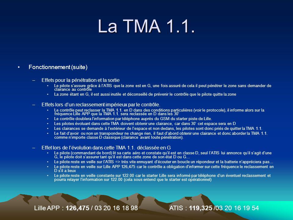 La TMA 1.1. Fonctionnement (suite)