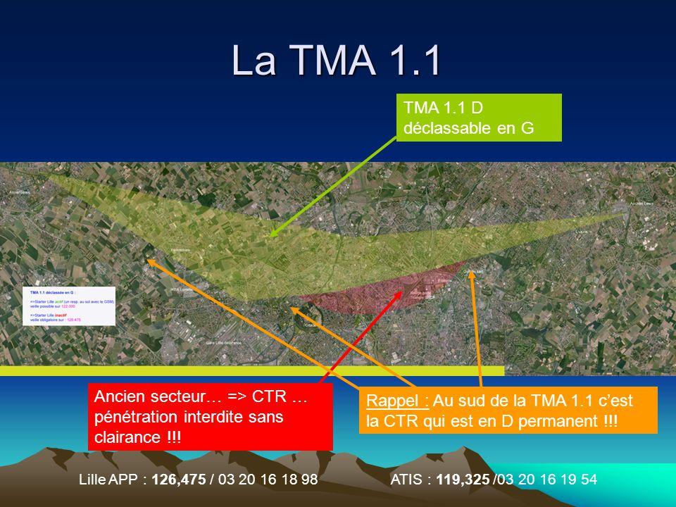 La TMA 1.1 TMA 1.1 D déclassable en G